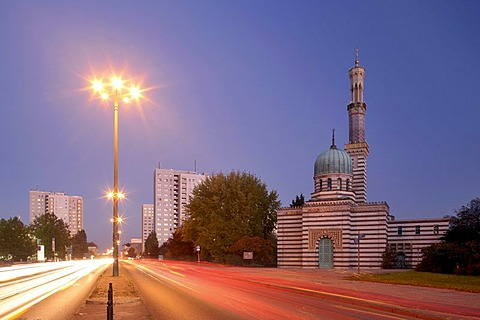 Steam engine house of the Havelpumpwerk built in the style of a mosque, Potsdam, Brandenburg, Germany, Europe