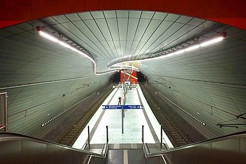 Lohring Underground Station, Bochum, North Rhine-Westphalia, Germany, Europe
