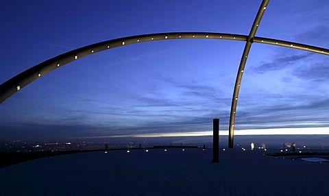 Horizontobservatorium, observatory, on Hoheward slag heap, Herten, Ruhr area, North Rhine-Westphalia, Germany, Europe