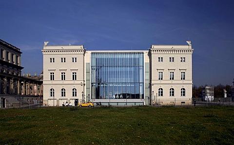 Bertelsmann capital city representative building, reconstruction of the former Kommandatur, military headquarters, Unter den Linden Boulevard, Mitte, Berlin, Germany, Europe