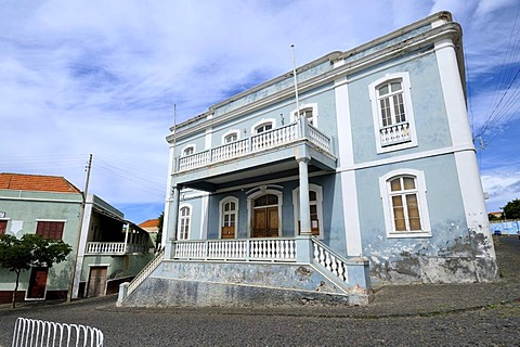 Townhall, colonial house, Sao Filipe, Fogo Island, Cape Verde Islands, Africa