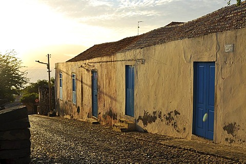 Old house, Sao Filipe, Fogo Island, Cape Verde Islands, Africa