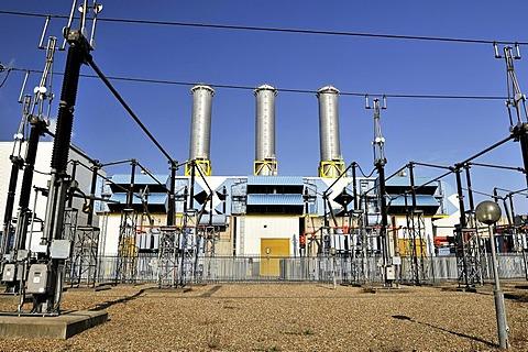 Scottish Power generating station at Hoddesdon, Hertfordshire, United Kingdom, Europe
