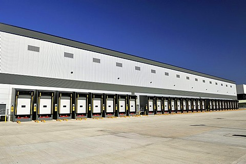 A transport warehousing distribution centre at Hoddesdon, Hertfordshire, United Kingdom, Europe
