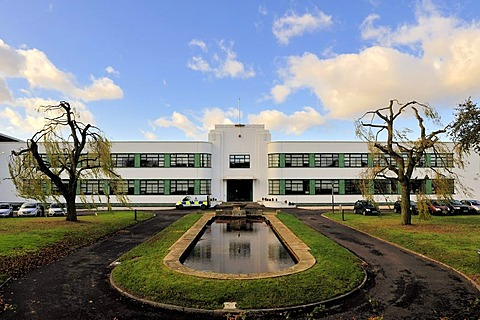 The police station at Hatfield, part of the former British Aerospace plant, Art Deco style, Hertfordshire, England, United Kingdom, Europe