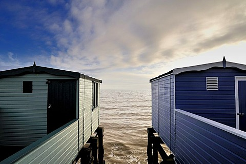 Changing huts at Frinton, Essex, England, Great Britain, Europe - 832-265784