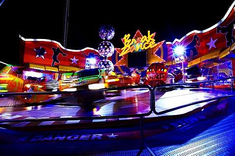 Velocity ride by night, Wiener Prater, Vienna, Austria, Europe