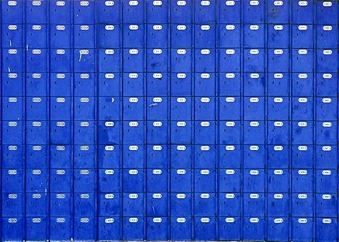 Post office boxes, Springbok, Namaqualand, Suedafrika, Afrika