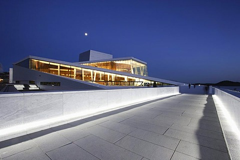 Oslo Opera in the evening, Norway, Scandinavia, Europe