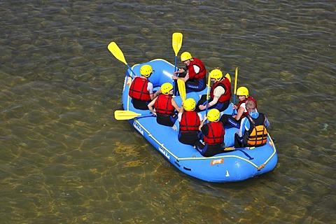 Rafting, artificial whitewater course, Canoe Park at Lake Markkleeberg, Leipzig, Saxony, Germany, Europe