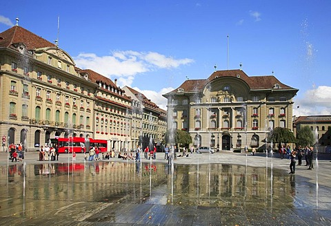 Confederation Plaza in Berne, Switzerland, Europe