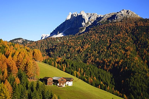 Passo delle Erbe, mountain pass at Funes Valley, Bolzano-Bozen, Italy, Europe