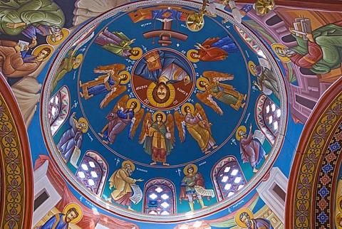Church cupola of Agios Georgios Basilica, Coral Bay, Cyprus