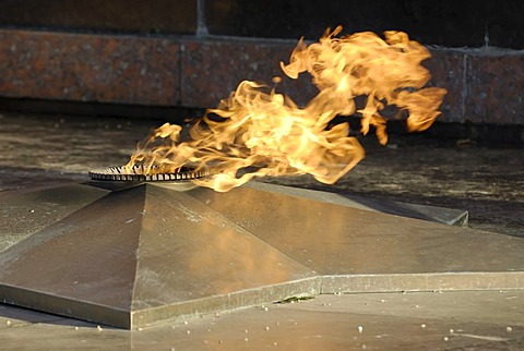 Eternal Fire on the Tomb of the Unknown Soldier, Alexander garden, Moscow, Russia