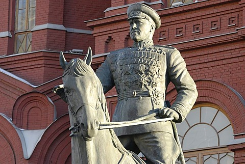 Monument of Russian World War II hero, Marshal Zhukov, Moscow, Russia