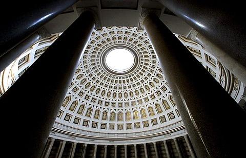 Dome in the Befreiungshalle, Liberation Hall, Kelheim, Bavaria, Germany, Europe