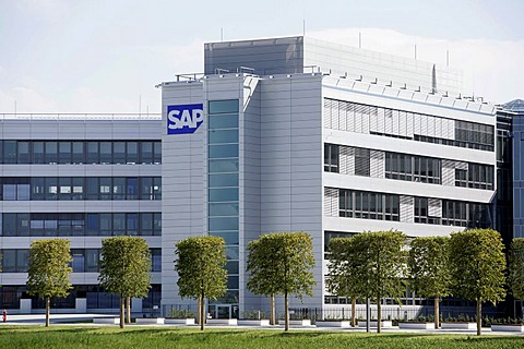 Headquarters of the software company SAP AG in Walldorf, Baden-Wuerttemberg, Germany, Europe