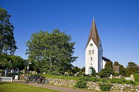 St. Clemens Church, Nebel, Amrum, North Frisia, Schleswig-Holstein, Germany, Europe