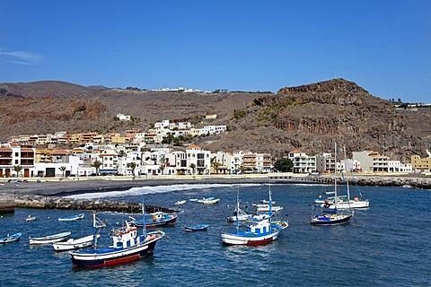 Harbour, Playa Santiago, La Gomera, Canary Islands, Spain, Europe