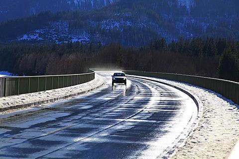 Bridge, Sylvensteinsee Lake, Bavaria, Germany