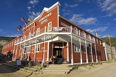 Famous Downtown Hotel, Dawson City, Yukon Territory, Canada, North America