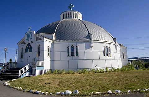Igloo Church in Inuvik, Mackenzie River Delta, Northwest Territories, Canada, North America