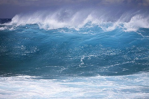 Waves at South Point, the southernmost point of the USA, Big Island, Hawai'i, Hawaii, USA