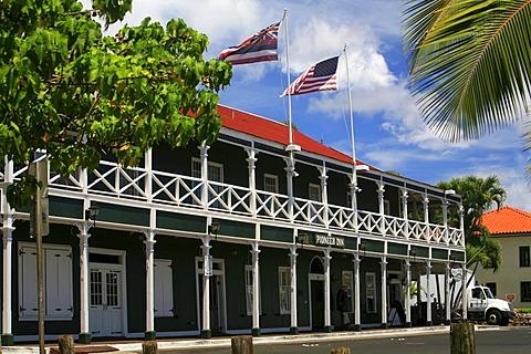 Pioneer Inn building, Lahaina, Maui, Hawai'i, Hawaii, USA