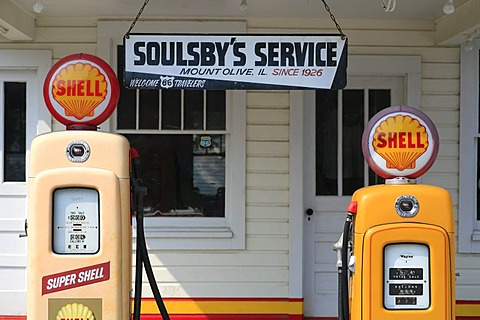 Soulsby's Service Station on the historic Route 66, Mount Olive, Illlinois, USA