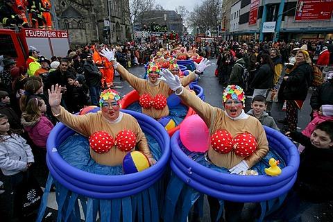 Carnival, Rose Monday parade in Koblenz, Rhineland-Palatinate, Germany, Europe