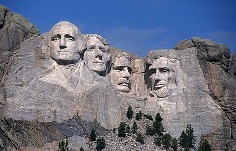 Mount Rushmore National Memorial, Monument, Black Hills, South Dakota, USA