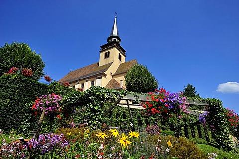 Eglise Catholique Paroisse Sainte Trinite or Church of the Holy Trinity, in Lauterbourg, Alsace, France, Europe