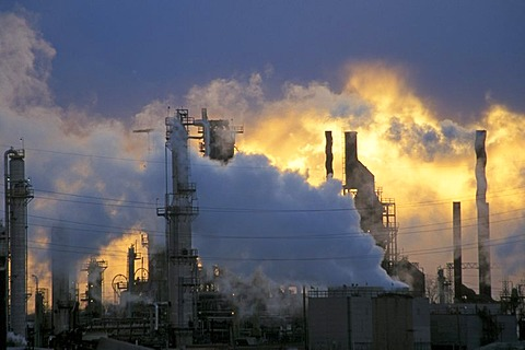 Marathon oil refinery, Detroit, Michigan, USA