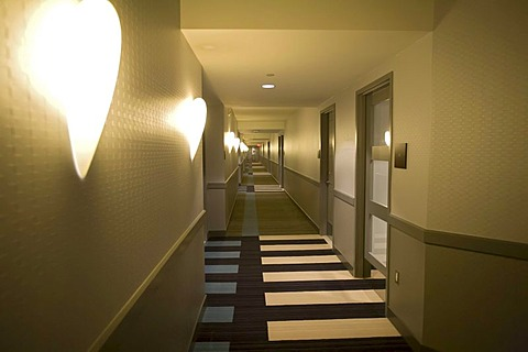 A corridor in the hotel at the Greektown Casino, Detroit, Michigan, USA
