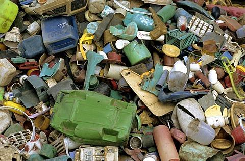 Pile of plastik rubbish, Burma, Birma, Myanmar, Asia