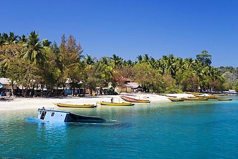 Fishing village on Havelock Island, Andaman Islands, Andaman Sea, India, South Asia