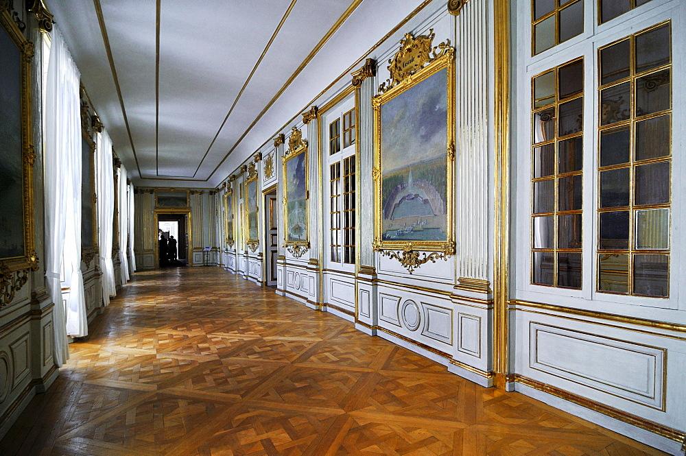 Hallway in Nympenburg Palace, Munich, Bavaria, Germany, Europe