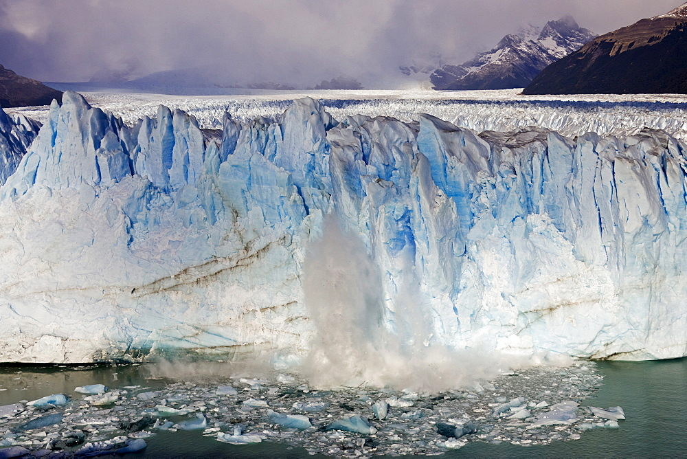 Broken ice at the glacier Perito Moreno, National Park Los Glaciares, Argentina, Patagonia, South America