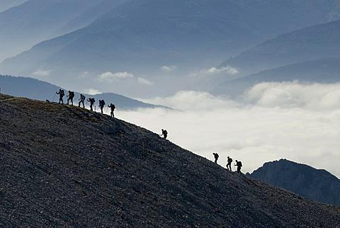 Ridge walk, Woerschach, Styria, Austria, Europe