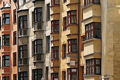 Houses in the duke Friedrichstrasse in Innsbruck in Tirol