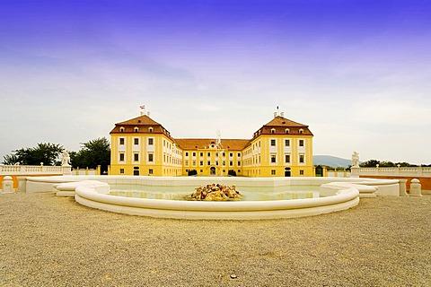 Baroque imperial festival palace Hof in Niederweiden in Lower Austria