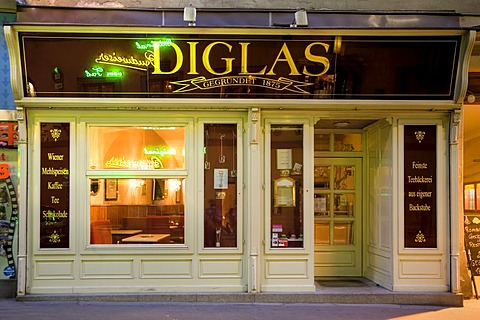 Cafe Diglas in the City of Vienna, Austria