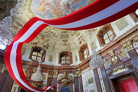 Belvedere, Indoor Photo, Flag, Barock, Ceiling Fresco, Vienna, Austria