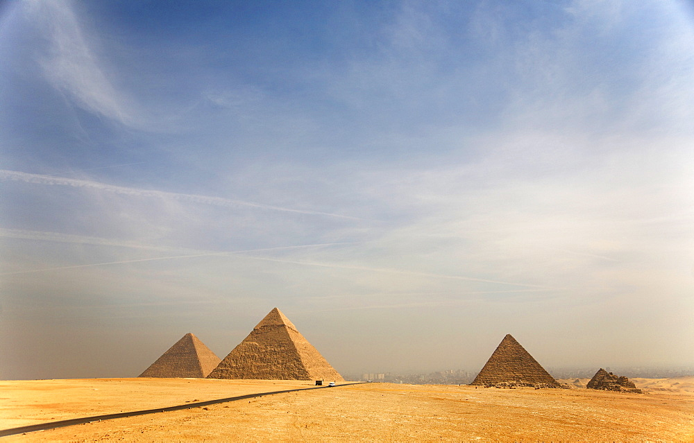 The Pyramids of Giza, near Cairo, Egypt, North Africa, Africa