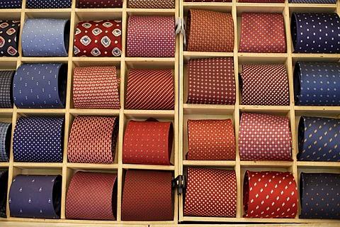 Neckties, weekly market, Bardolino, Italy, Europe