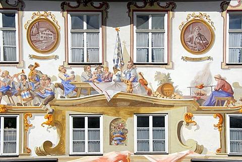 House fresco Oberammergau Bavaria Germany