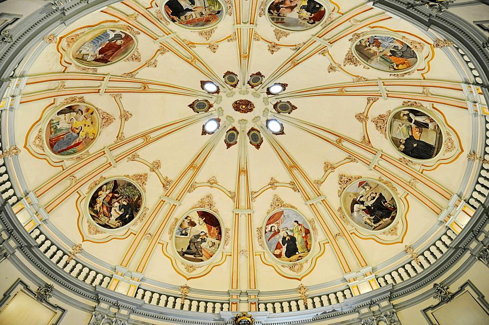 Ceiling painting, San Juan Bautista Church, Murcia, Spain, Europe
