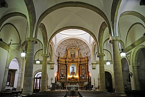 Interior shot of San Bartolome Church, Tarazona de la Mancha, Castile-La Mancha, Spain, Europe