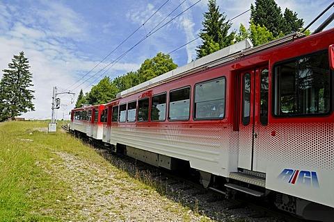 Cog railway, Mount Rigi, Vitznau, Canton of Lucerne, Switzerland, Europe