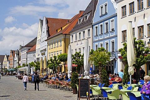 Guenzburg Bavarian Swabia Germany market square